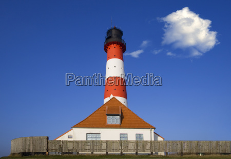 lighthouse at the north sea