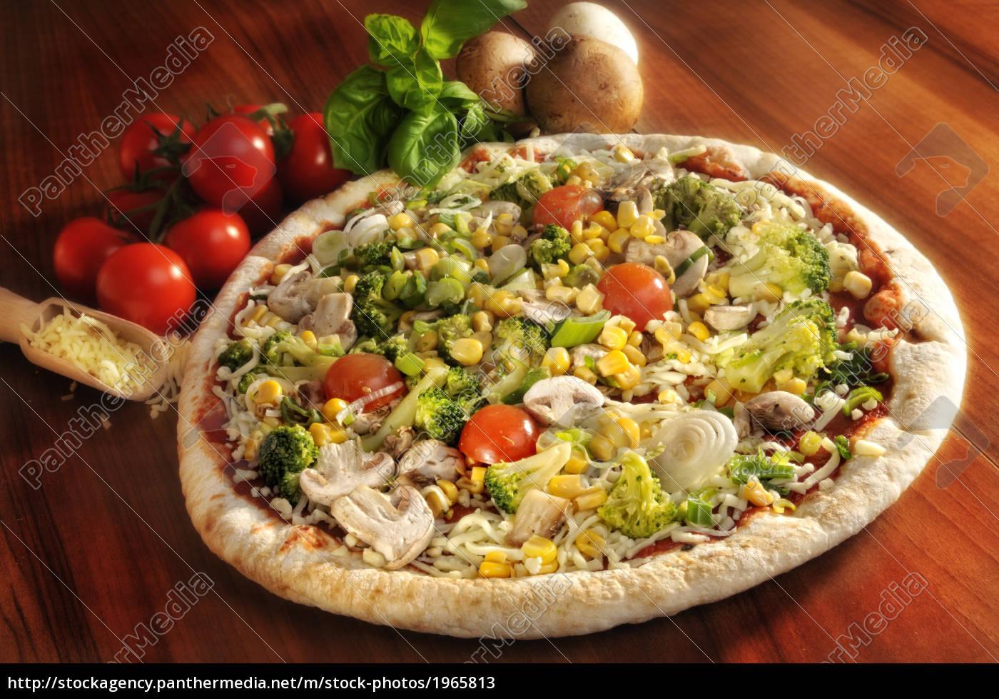 pizza, coberta, com, legumes - 1965813