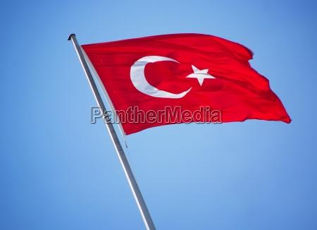 bandeira turquia estado ceu rugas