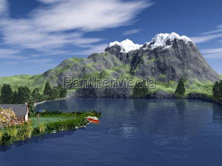 arvore arvores planta agua doce lago