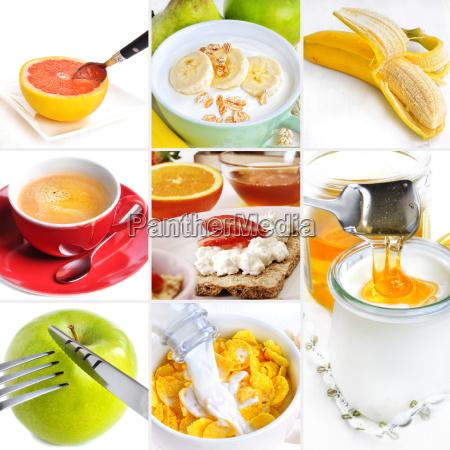 breakfast colagem saudavel