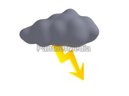 nuvem de tempestade com thunderbolt
