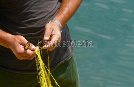 pescadores no trabalho
