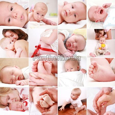 bebe e colagem da gravidez