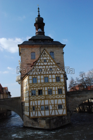 bamberg ancient old town hall regnitz