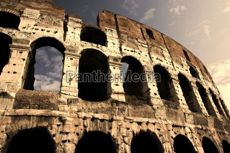 colosseum in the early evening