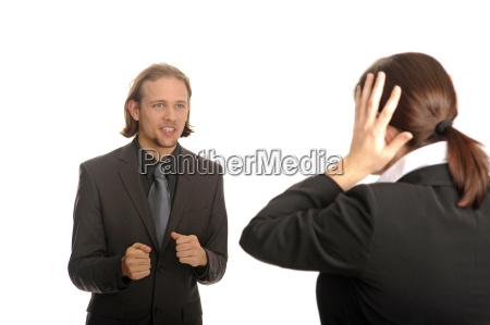 woman conversation business dealings deal business