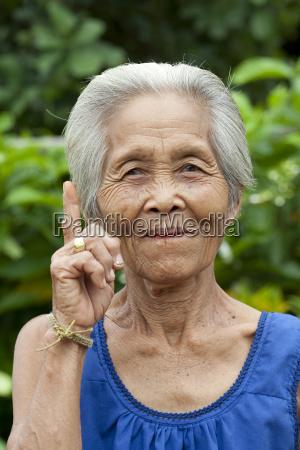 mulher idosa asia do retrato