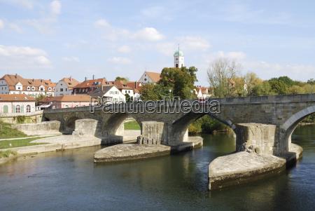 famoso ponte alemanha danubio rio agua