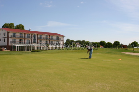 homem golfe campo de golfe jogador