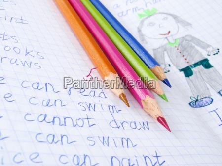 estudo escrever educacao projeto fonte lapis