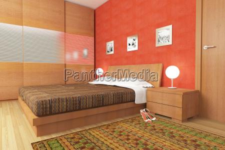 quarto de madeira moderno