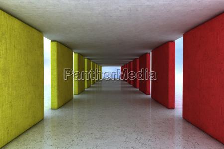 arquitetura concreto e design de cores