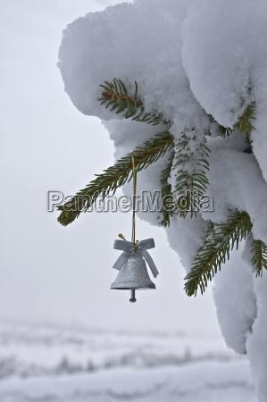 ramo sino decoracao christbaumschmuck neve natureza