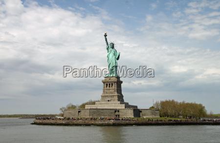 monumento estatua eua liberdade vista america
