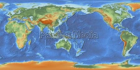 mapa de mundo centrado em 150