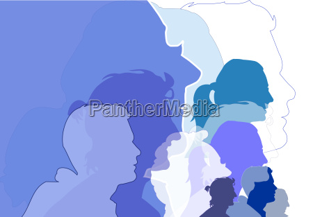faces profile people background