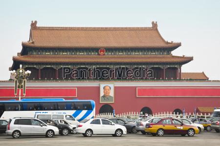 fachada de um predios portao tiananmen