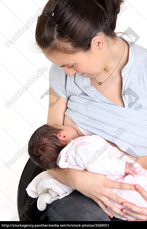 bebê, que, bebe, no, peito - 3569051
