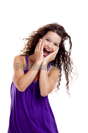 mulher belo agradavel engracado animado encantado