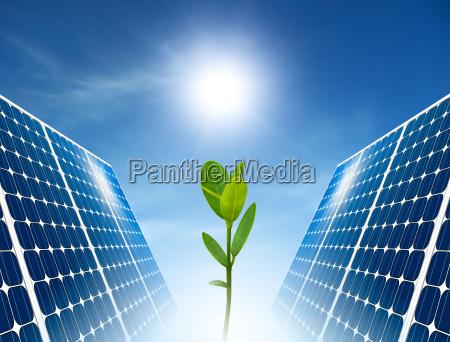 concept of solar panel