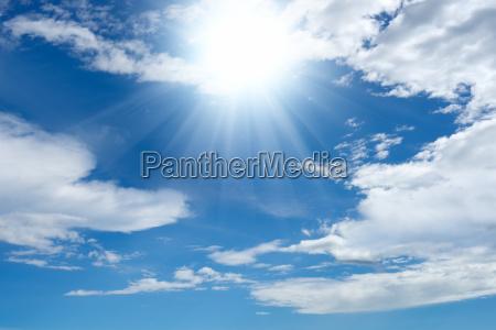 nuvem verao ceu luz ensolarado corpo