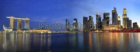 singapore cityscape do esplanade panorama