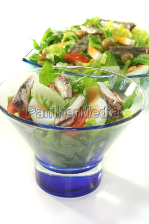 chef salad with anchovies