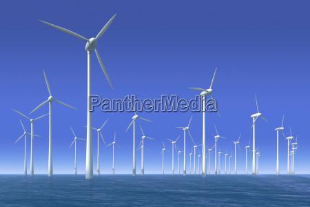 as turbinas de vento na agua