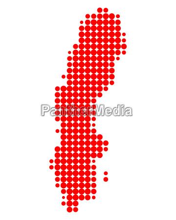 suecia circulo mapa ponto geografia completo