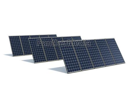 modulos solares contra um fundo branco