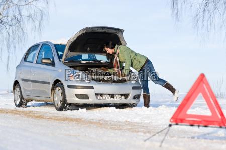 avaria do carro de inverno