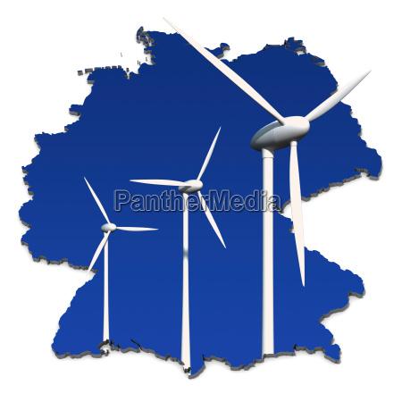 turbina eolica em frente ao azul