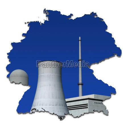 usina nuclear antes de azul alemanha