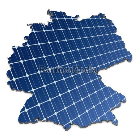células, solares, monocristalinos, em, um, mapa - 4048595