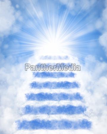 escada ceu nuvem sonho liberdade acordo