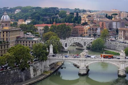 cityscape of rome italy