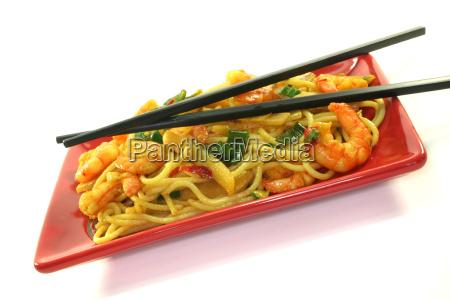 pasta with asia shrimp