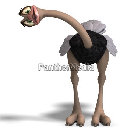 fofo toon avestruz da tanto divertimento
