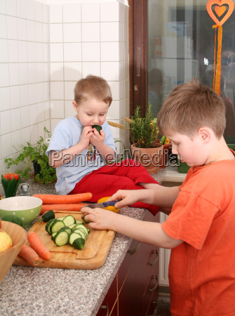 fruta irmao vegetal meninos caras corte
