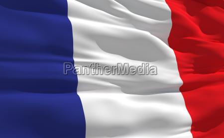 bandeira ondulada da franca