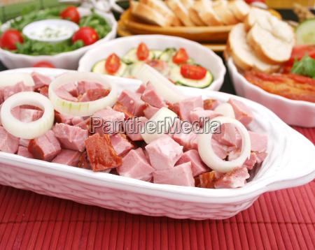 fumado fumigar fresco carne de porco