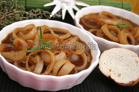 alimento vegetal cebolas vegetariano sopa de