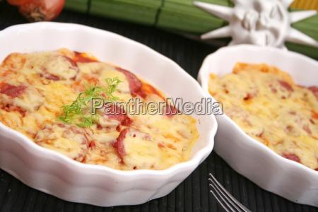 alimento queijo salame caseiro salsicha