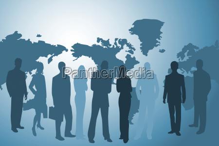empresarios e worldmap
