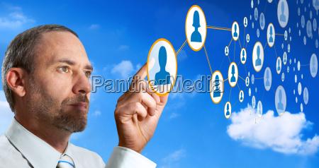 rede cloud computer futurista