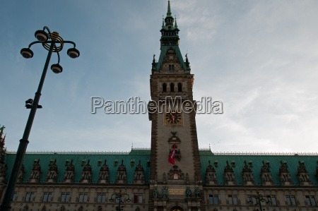 azul torre relogio hamburgo prefeitura lanterna
