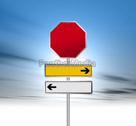 sinais de estrada em branco