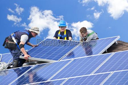instalacao do painel solar