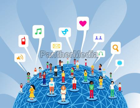 rede global de redes sociais